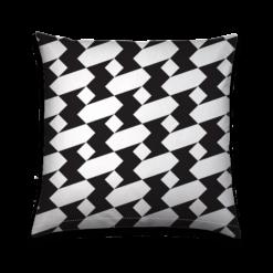 Buitenkussen Black and White Geometric