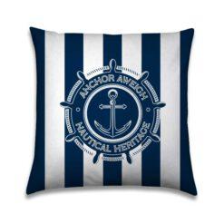Bootkussen Nautical Bleu anker navy 01