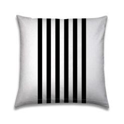 Buitenkussen Zwart-wit lijnen verticaal