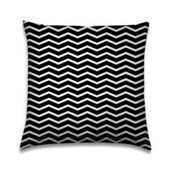 Buitenkussen Zwart-wit Zigzag lijnen