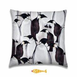Sierkussen - Pinguïns - Designkussen - Winters tafereel