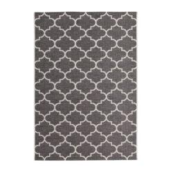 buitenkleed terraskleed patroon kleur grijs 160x230cm