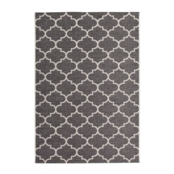buitenkleed terraskleed patroon kleur grijs 200x290cm