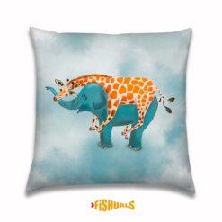 buitenkussen met Olifant en Giraffe