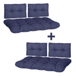 Palletkussen Set Florance Madison 120x80cm Safier blauw